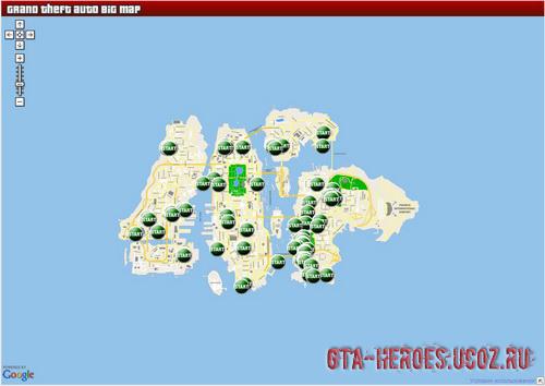 Интерактивная карта GTA 4