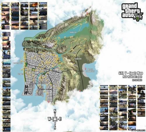 Карта Grand Theft Auto 5